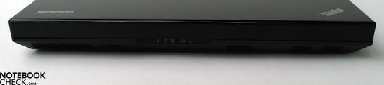 Right Side:  Audio Ports, 2xUSB 2.0, ExpressCard, Optical Drive, Modem, LAN