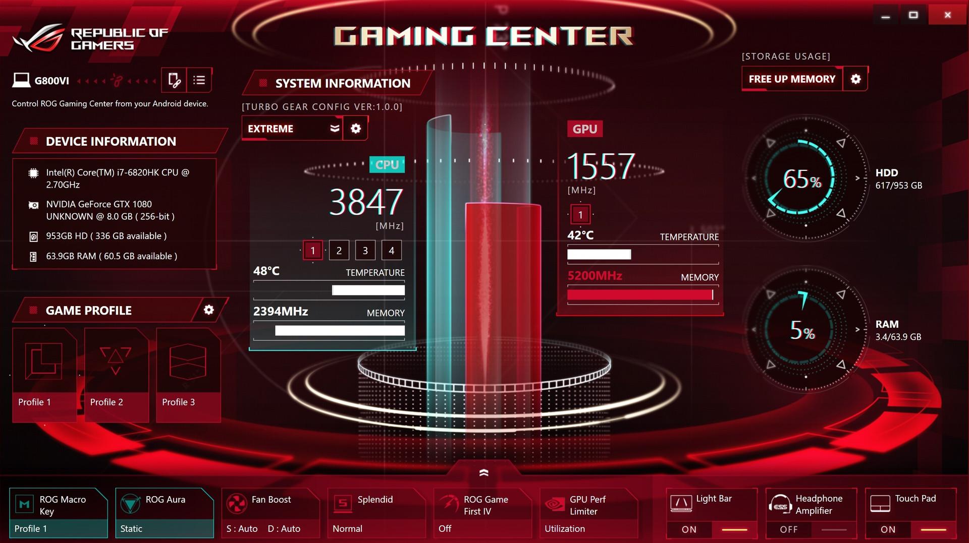asus gaming center download free