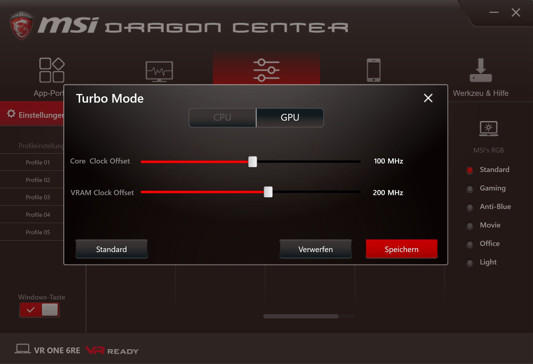 MSI VR One - NotebookCheck net