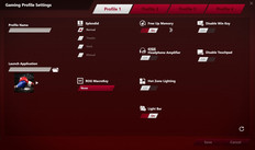 Gaming Profile Settings