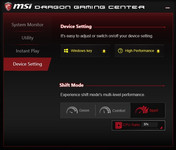Dragon Gaming Center - Device Setting