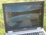 Toshiba Tecra M10 in outdoor use