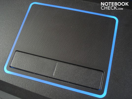 Lighted touchpad (in daylight)