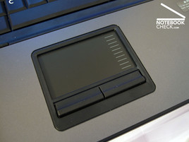 Touch pad of the HP Compaq 6715s