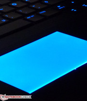 The touchpad light is almost too much