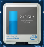 Turbo Boost up to 2.4 GHz for two active cores