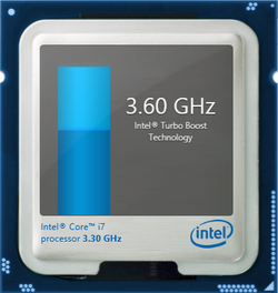 Up to 3.7 GHz Turbo for a single core or 3.6 GHz for all cores