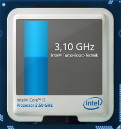 3.1 GHz maximum Turbo speed