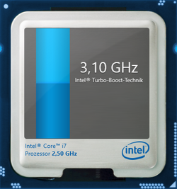 Maximum Turbo clock rate: 3.1 GHz