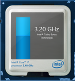 Intel Turbo Boost up to 3.2 GHz and 3.4 GHz for four active cores and one active core, respectively
