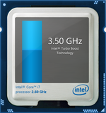 Turbo Boost up to 3.6 GHz for one active core