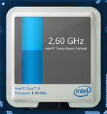 2.6 GHz maximum Turbo clock