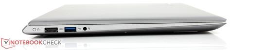 1x HDMI, 1x USB 3.0, 3.5 mm stereo jack