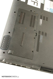 The user can easily access the hardware components through the panel at the bottom of the laptop...