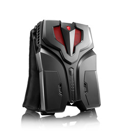 The MSI VR One, one of the first VR capable backpack PCs, was first shown in September 2016. (Source: MSI)