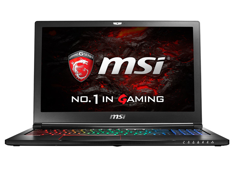 The MSI GS63VR brings VR gaming in a thin and light package. (Source: MSI)