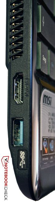 We appreciate the HDMI and USB 3.0 interface on the MSI Wind U270.