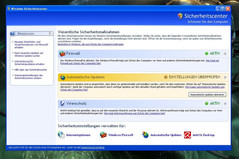 The security center on Windows XP offers (too) few options