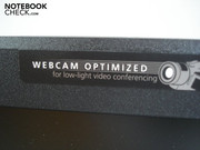 The webcam is optimized for video conferences