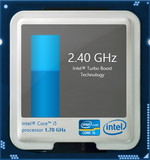 Turbo Boost up to 2.4 GHz (dual-core) and 2.6 GHz (single-core)