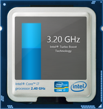 Up to 3.2 GHz and 3.4 GHz Turbo Boost for 4 active cores and 1 active core, respectively