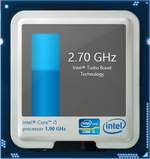Turbo Boost up to 2.7 GHz for both cores