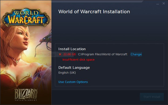 2GB RAM and 22GB storage required for WoW