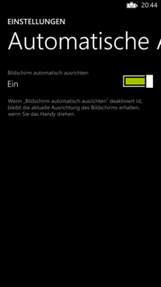 The automatic screen rotation can now be disabled.