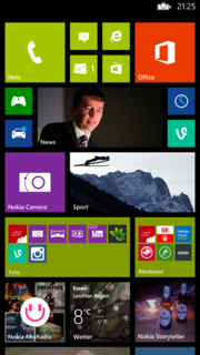 There's a lot of room on the Lumia 1520's home screen.