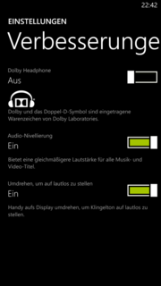 Sound enhancements