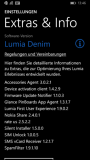 The firmware update Lumia Denim is also preloaded.
