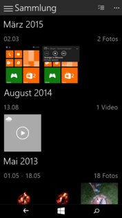 The design is currently not very consistent with elements from the desktop Windows and elements from the typical Windows Phone.