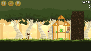 Angry Birds runs without issues like the majority of undemanding games.