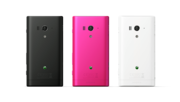 The Xperia Acro S is available in three colors.