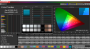 ColorChecker small window calibrated
