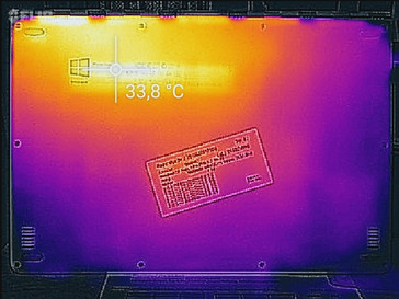 Temperature distribution bottom (idle)