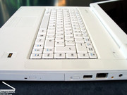 The keyboard fits well into the overall design of the Mythos A15 and offers good usability.