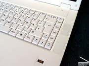 An exception is the area around the A-W-S-D keys, which can get noisy while typing.
