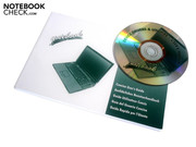 The accessories include a user manual as well as a drivers-and-tools DVD.