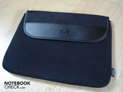 This travel case, which is included, is made from a very soft material and is well finished.