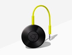 The Google Chromecast Audio supported lossless high-resolution audio. (Source: Google)