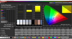 CalMAN ColorChecker (target color space AdobeRGB)