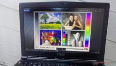 Outdoors under shade