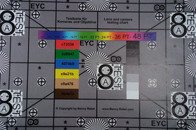 Photo of our test chart