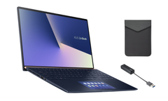 Asus ZenBook 15 UX534FA-A8038T with protective case and cable. (Image source: Asus)