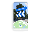 Live View superimposes AR directions on your phone screen. (Source: Google)