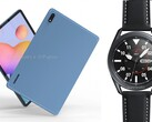 Samsung may launch the Galaxy Tab S7 and Galaxy Watch Active 3 series together on July 22. (Image source: OnLeaks & Evan Blass)