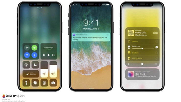 Renders of the iPhone 8 based on the leaked photos. (Source: iDropNews)