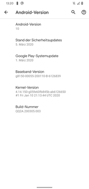 Google Pixel 4 XL software