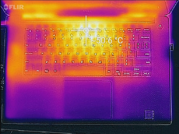Thermal profile, top of base unit, Witcher 3 stress